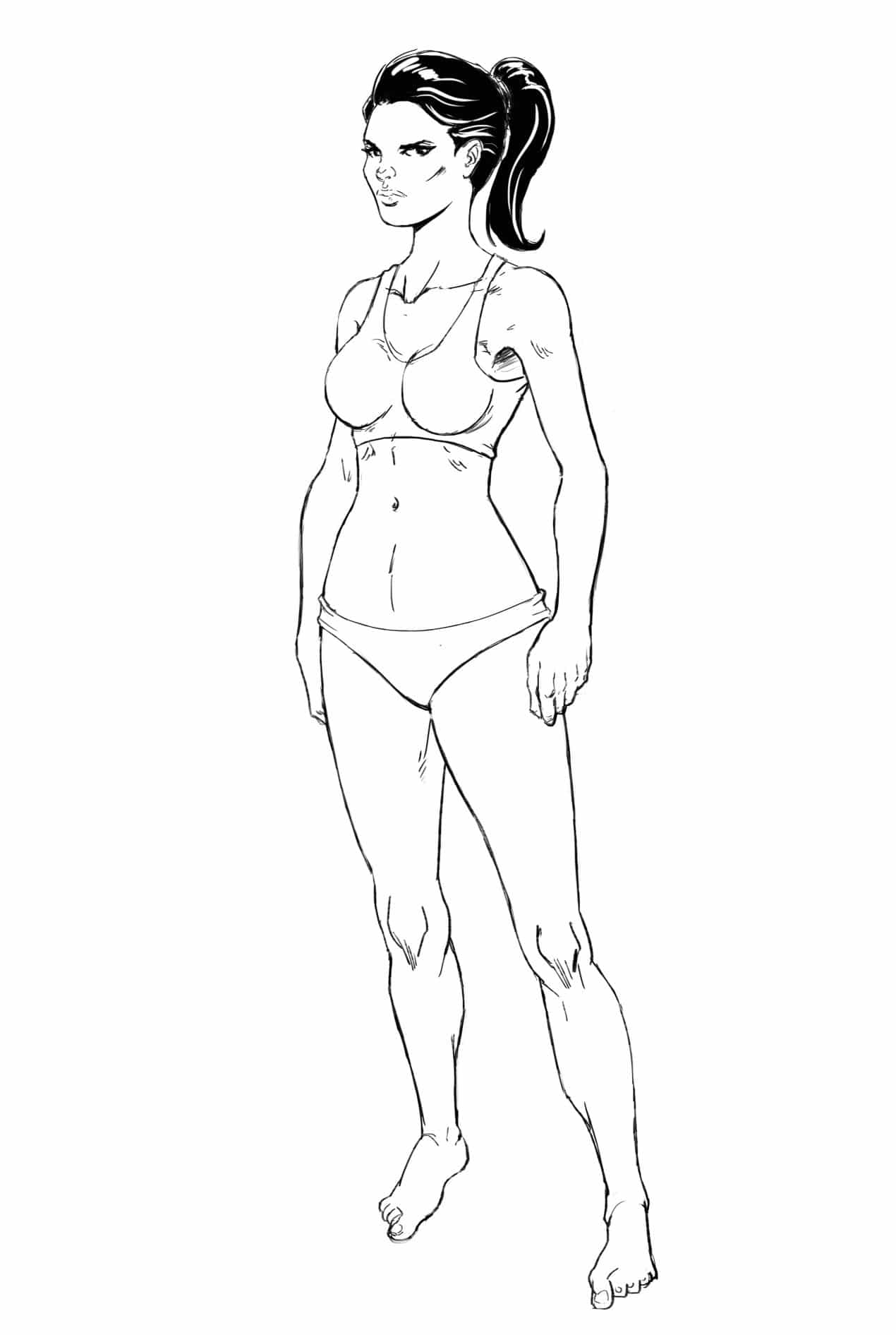 How To Draw The Female Body Learn How To Draw A Girl Improveyourdrawings Com