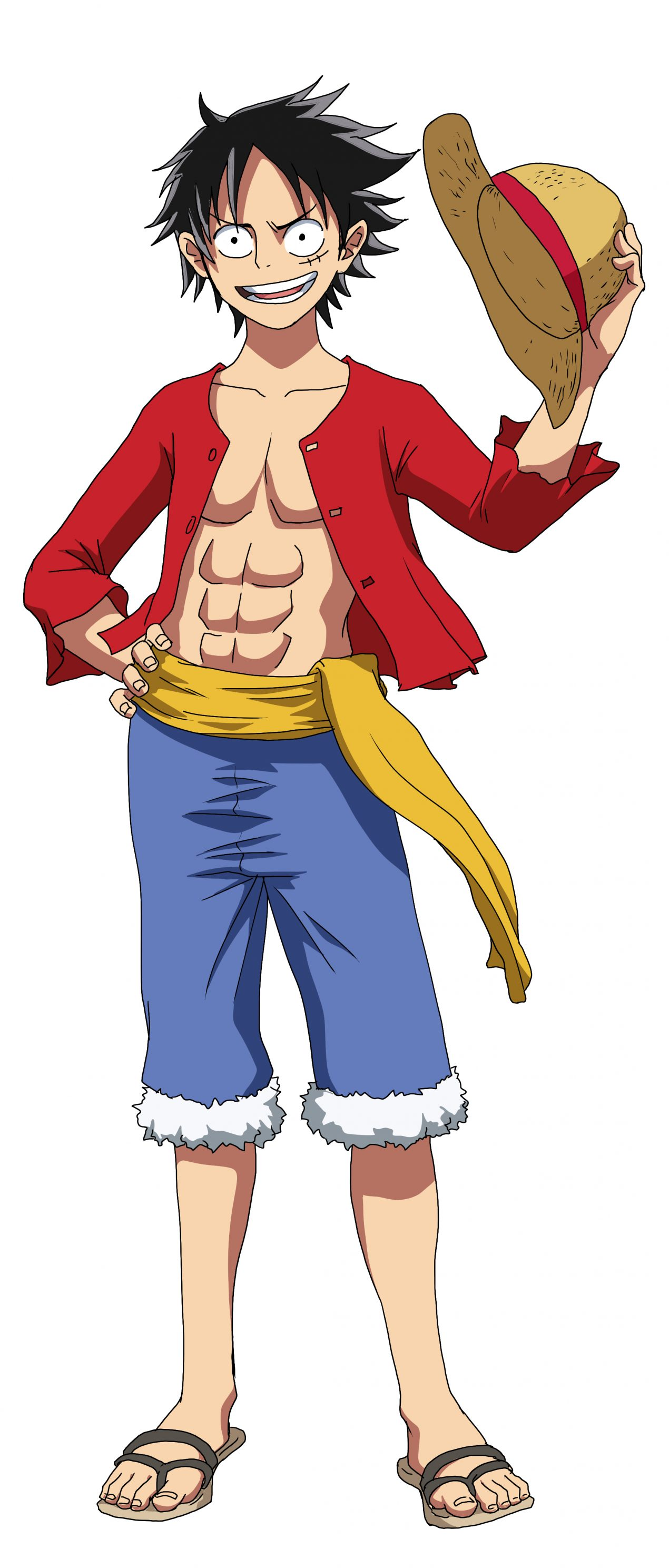 How To Draw Monkey D. Luffy -   Step by Step Tutorial