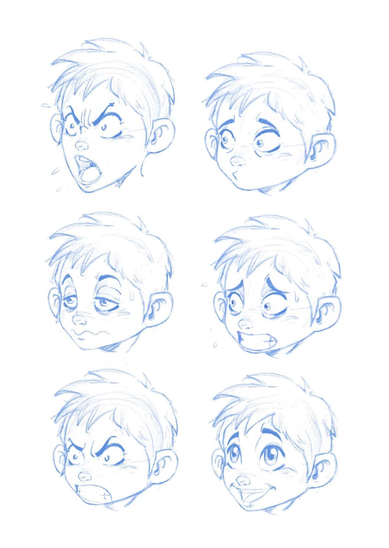 How To Draw A Cartoon Face Facial Expressions