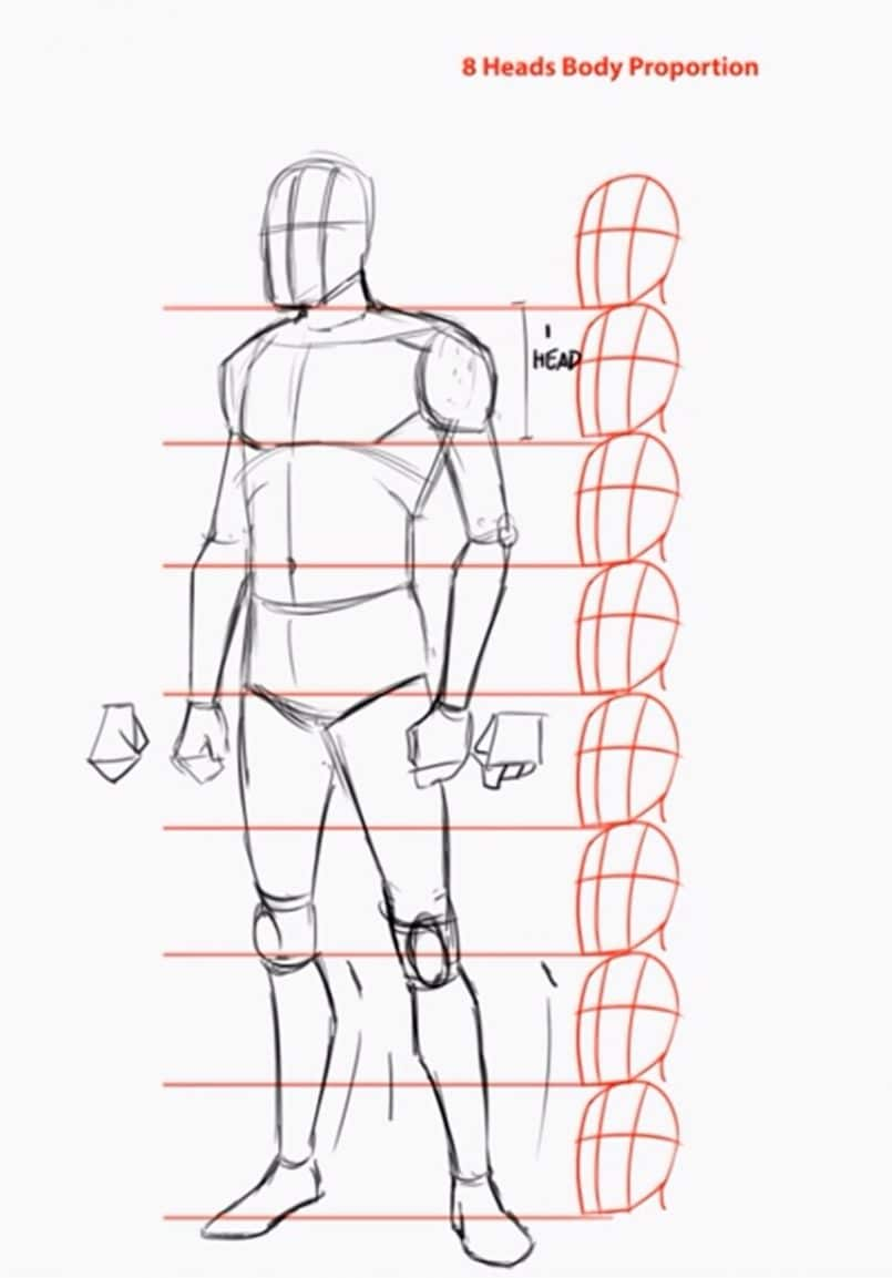 How to draw the human body step by step