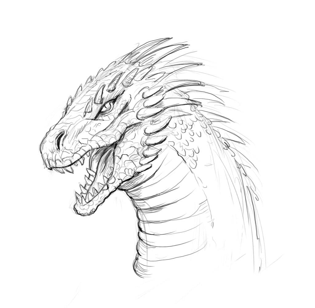 How To Draw A Dragon Step By Step And Easy To Follow Tutorial