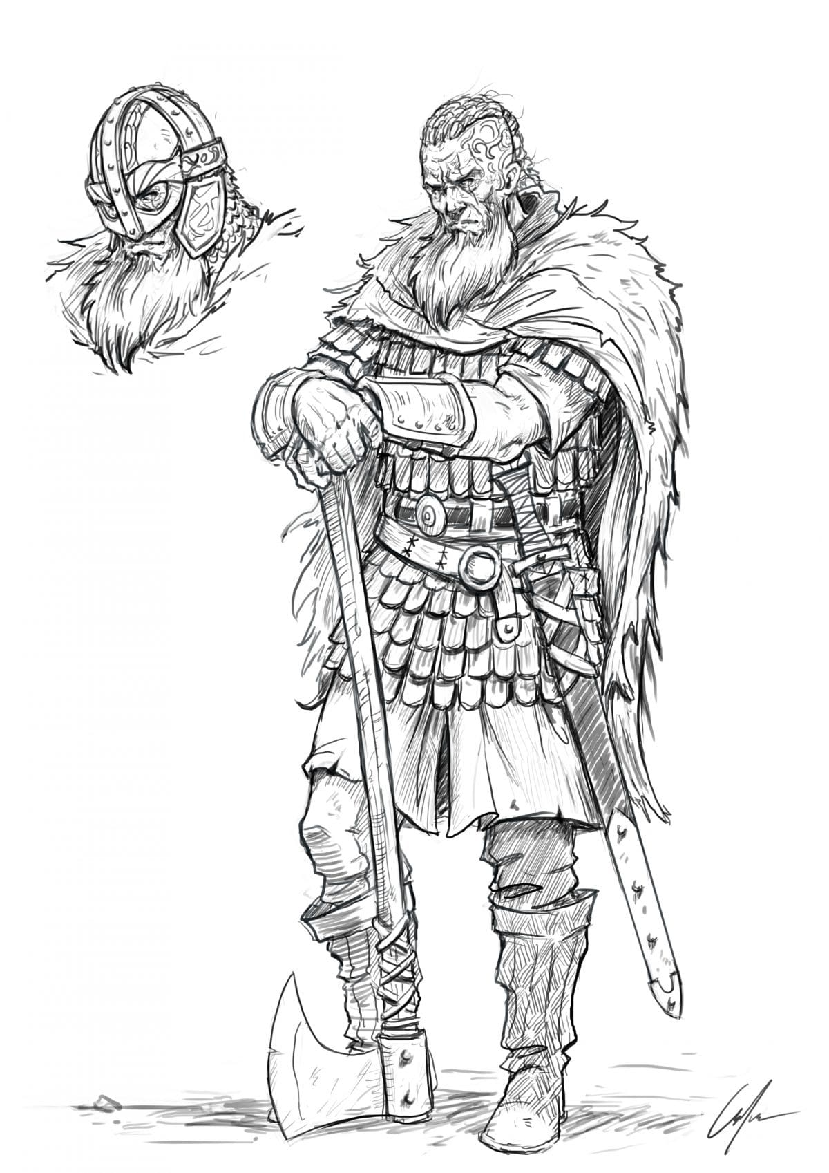 How To Draw A Viking Easy To Follow Step By Step Tutorial