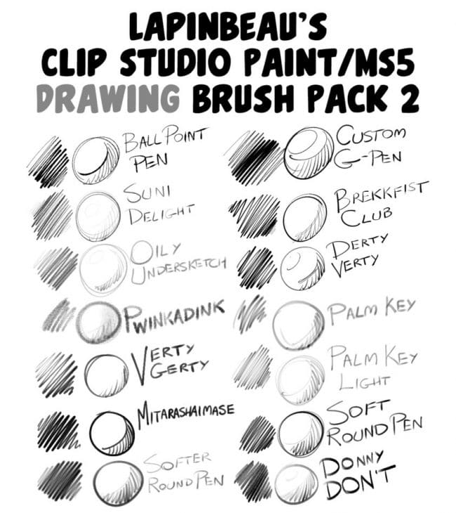 30 Brush Sets for Clip Studio Paint | Free and Premium