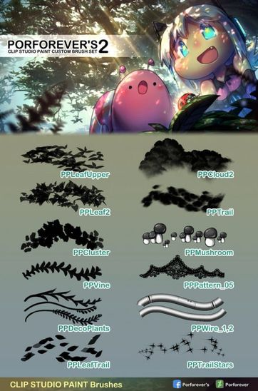 30 Brush Sets For Clip Studio Paint Free And Premium
