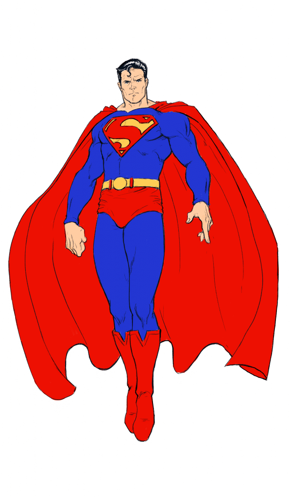 How To Draw Superman Full Body Step By Step Tutorial Improveyourdrawings Com