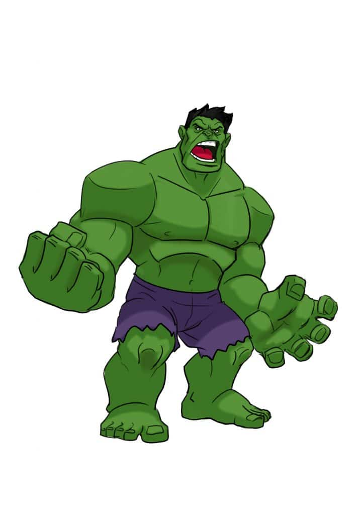 3 Ways To Draw The Hulk Realistic And Cartoon Style