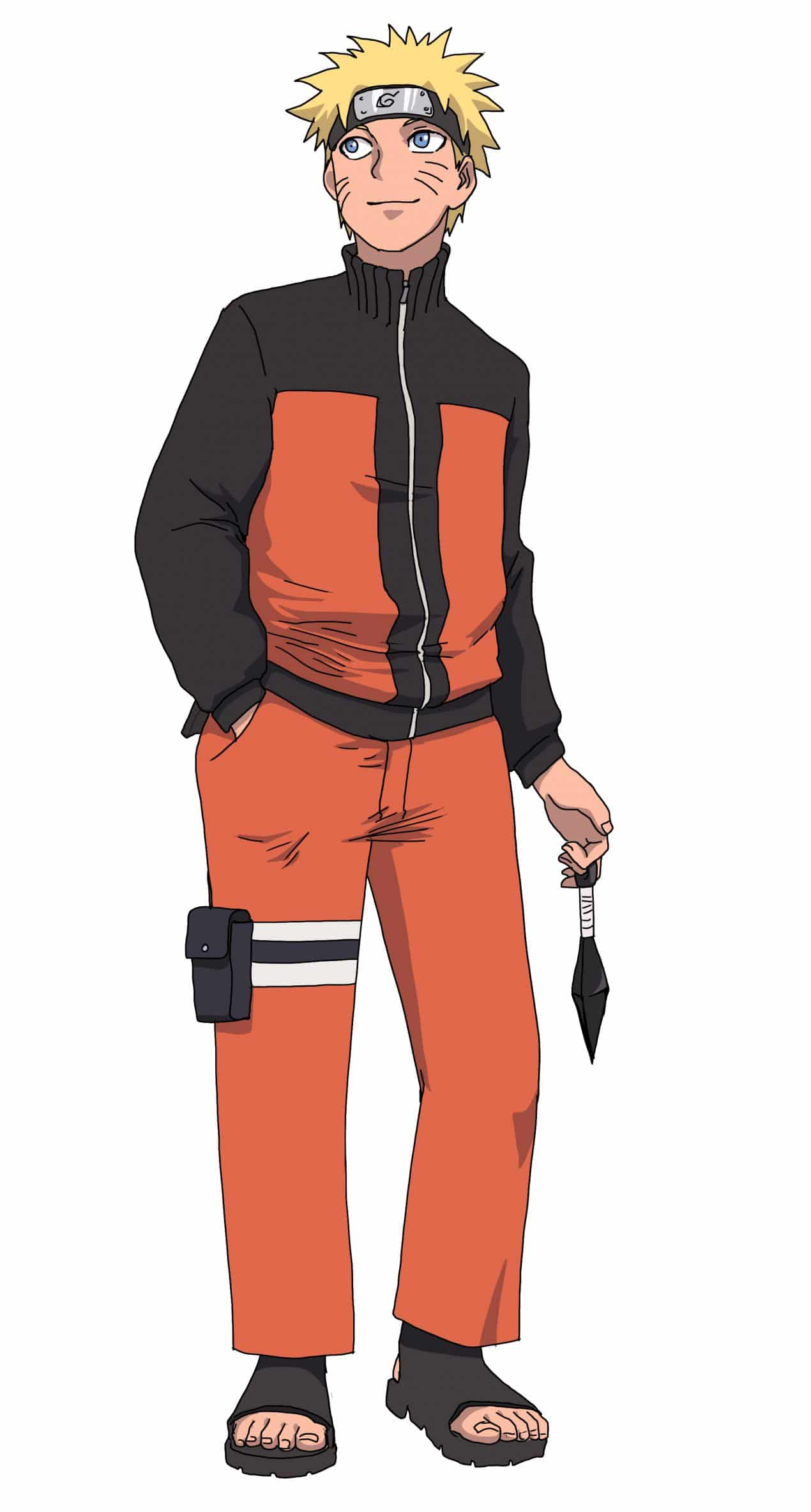 How to draw Naruto