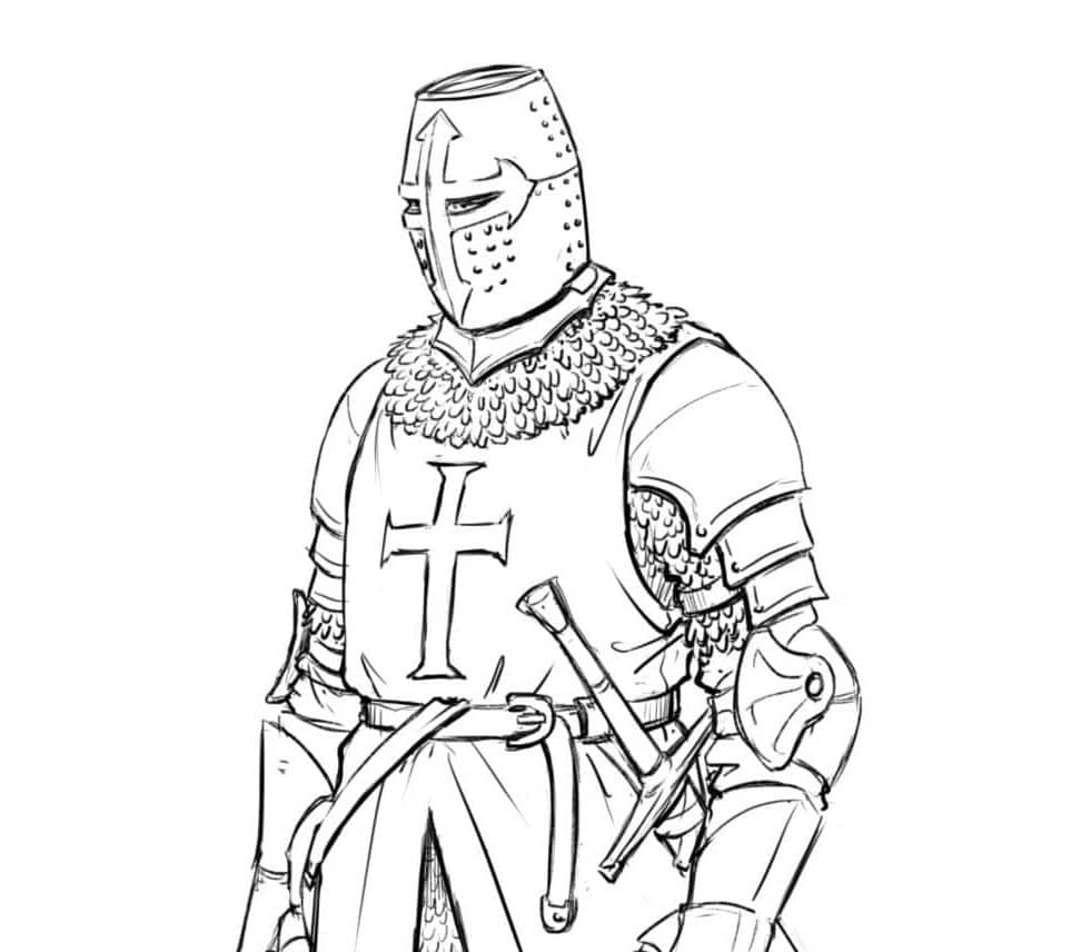How to Draw a Templar Knight