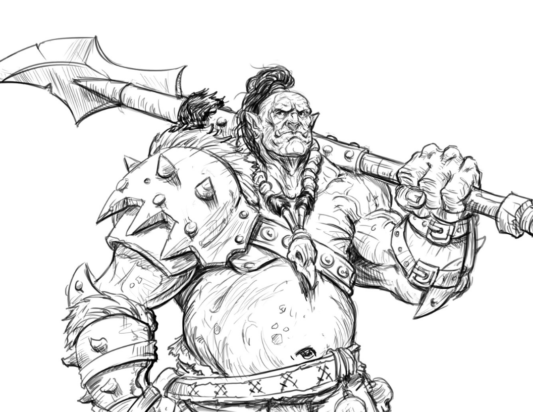 How to draw an Ogre - Learn to draw a Fantasy Ogre