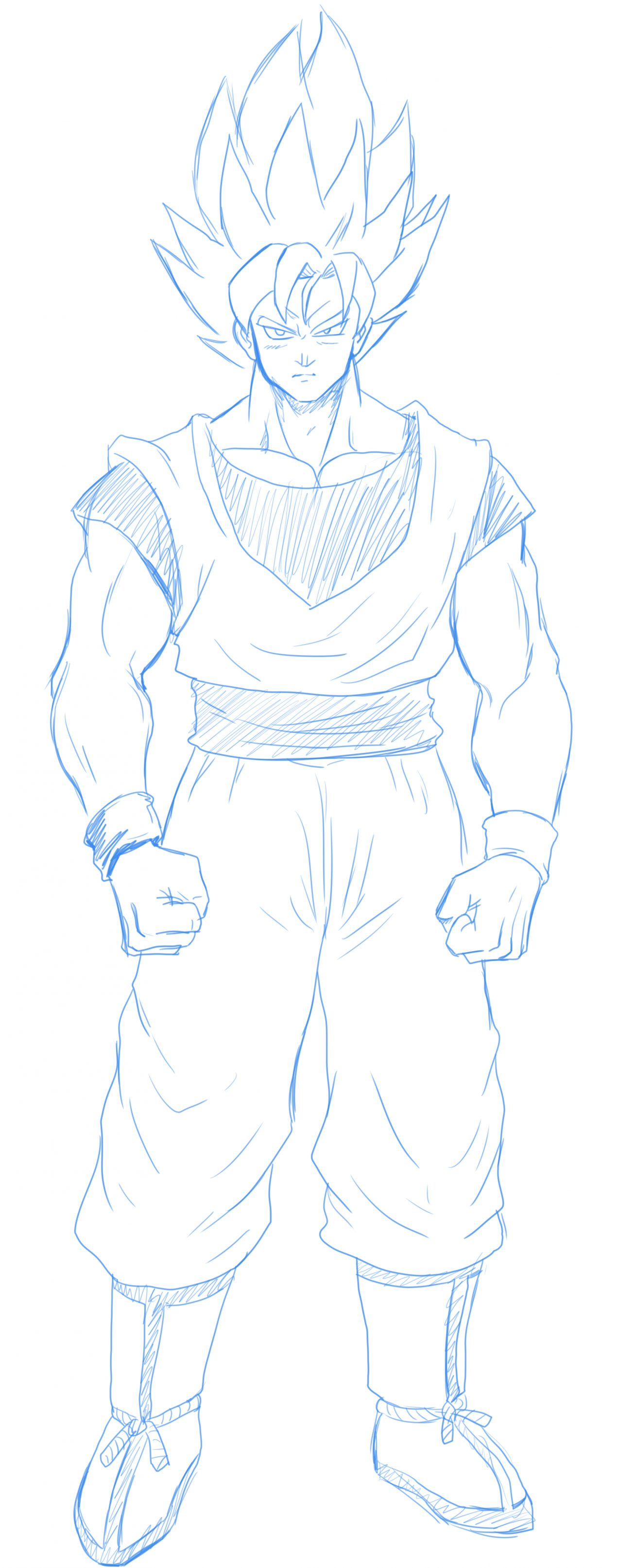 Learn To Draw Goku Supersaiyan 5 Goku Skt