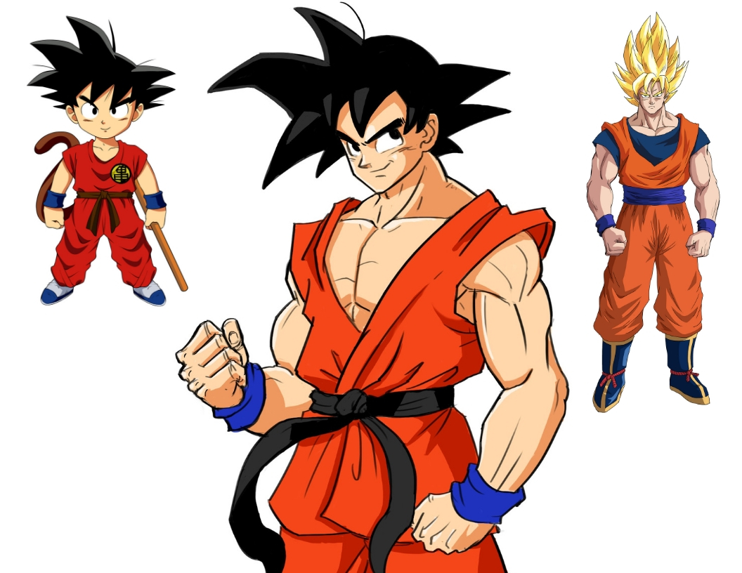 3 ways to Draw Goku : Kid, Adult and SuperSaiyan (with Pictures)