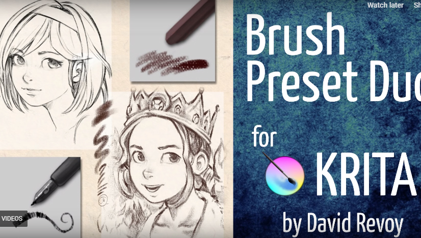 25 Brushes and Brush Kits For Krita - Improveyourdrawings com