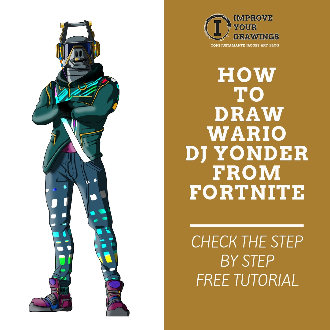 Learn to Draw DJ Yonder Fortnite - Improveyourdrawings.com