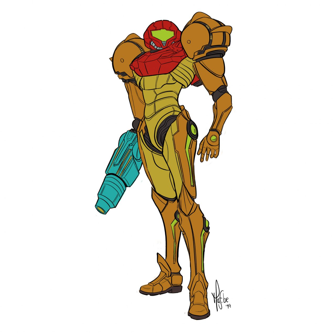 How to Draw Samus from Metroid