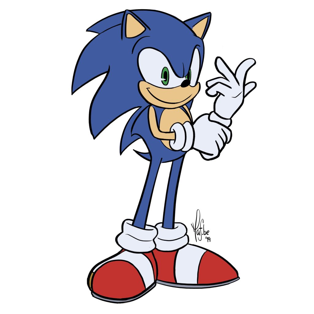 Learn To Draw Sonic In 7 Easy Steps With Pictures Improveyourdrawings Com