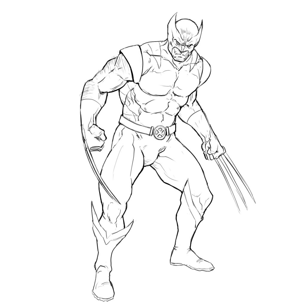 Learn To Draw Wolverine From X Men In 8 Easy Steps Improveyourdrawings Com Best of wolverine x men drawing easy