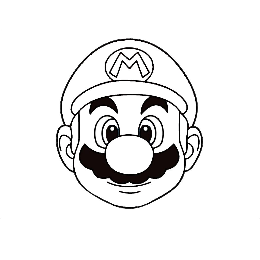 It is a graphic of Priceless Easy Mario Drawing