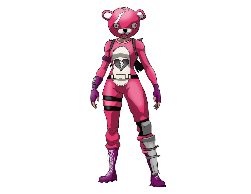 Learn to Draw Pink Teddy Bear from Fortnite in 8 Easy Steps