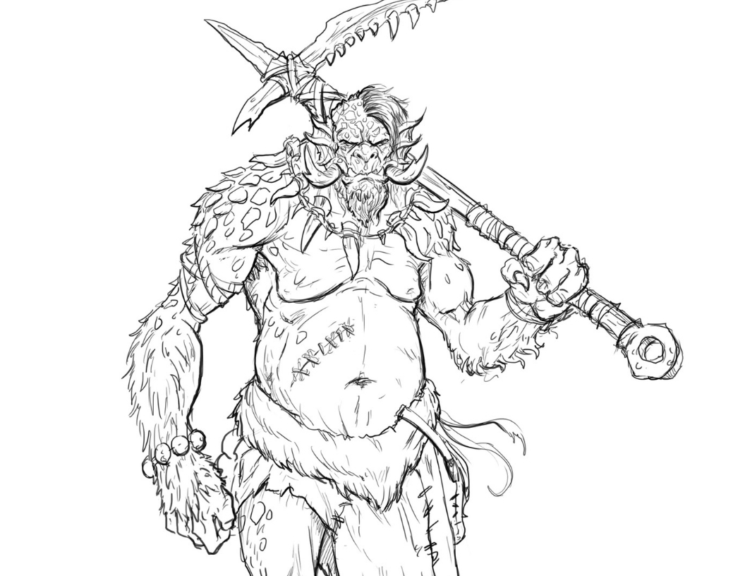 How to Draw a Troll - Learn to Draw a Fantasy Troll