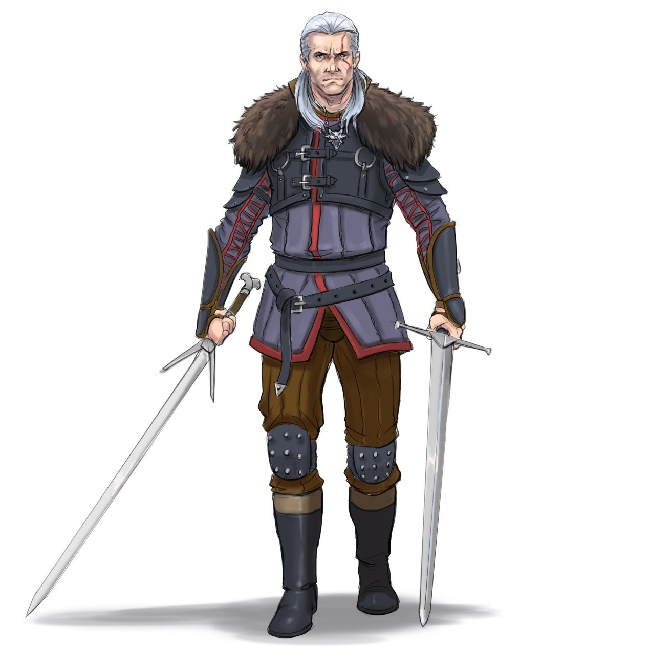 How to Draw Geralt of Rivia from The Witcher (with Pictures)