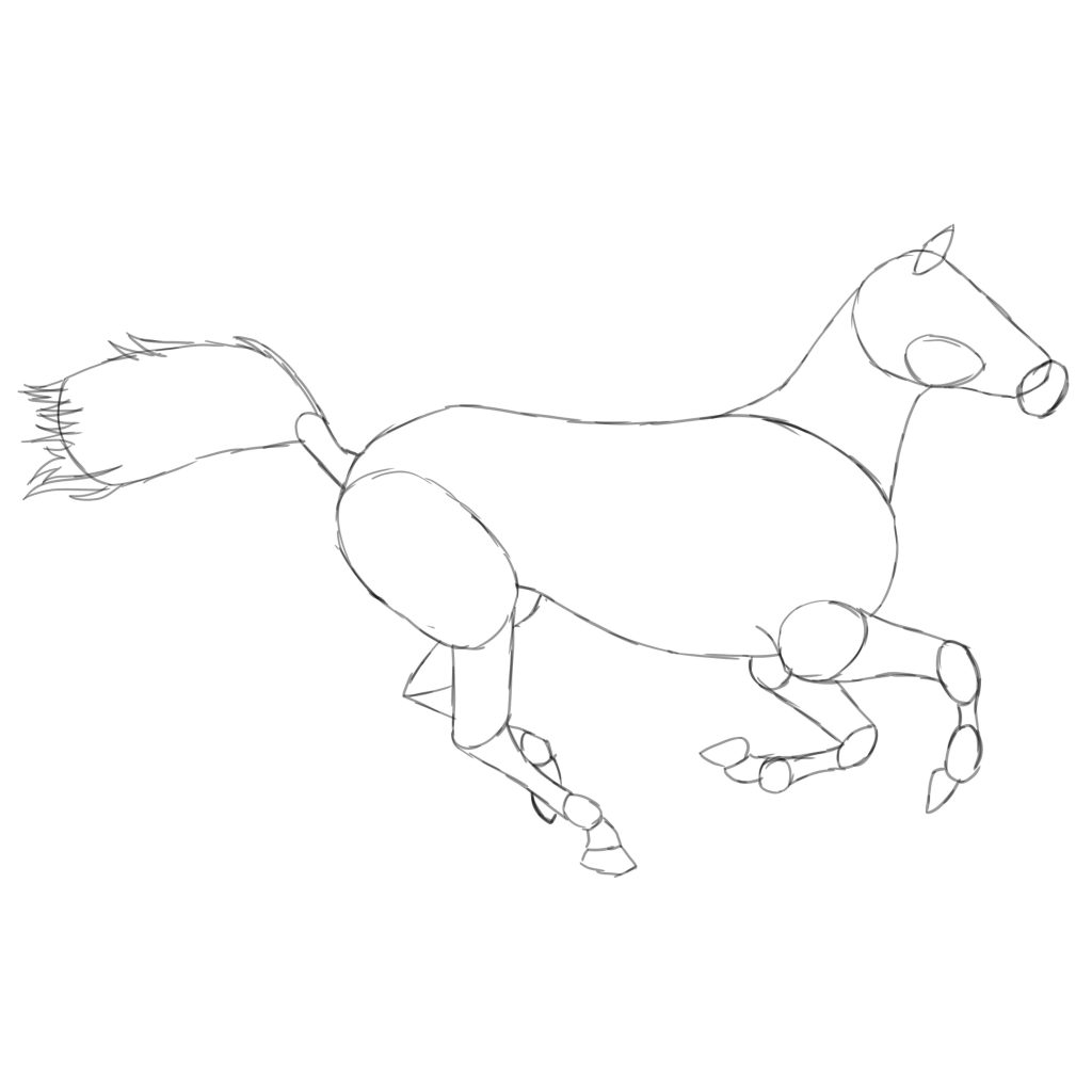 3 Ways To Draw A Horse From Beginner To Intermediate Level Improveyourdrawings Com