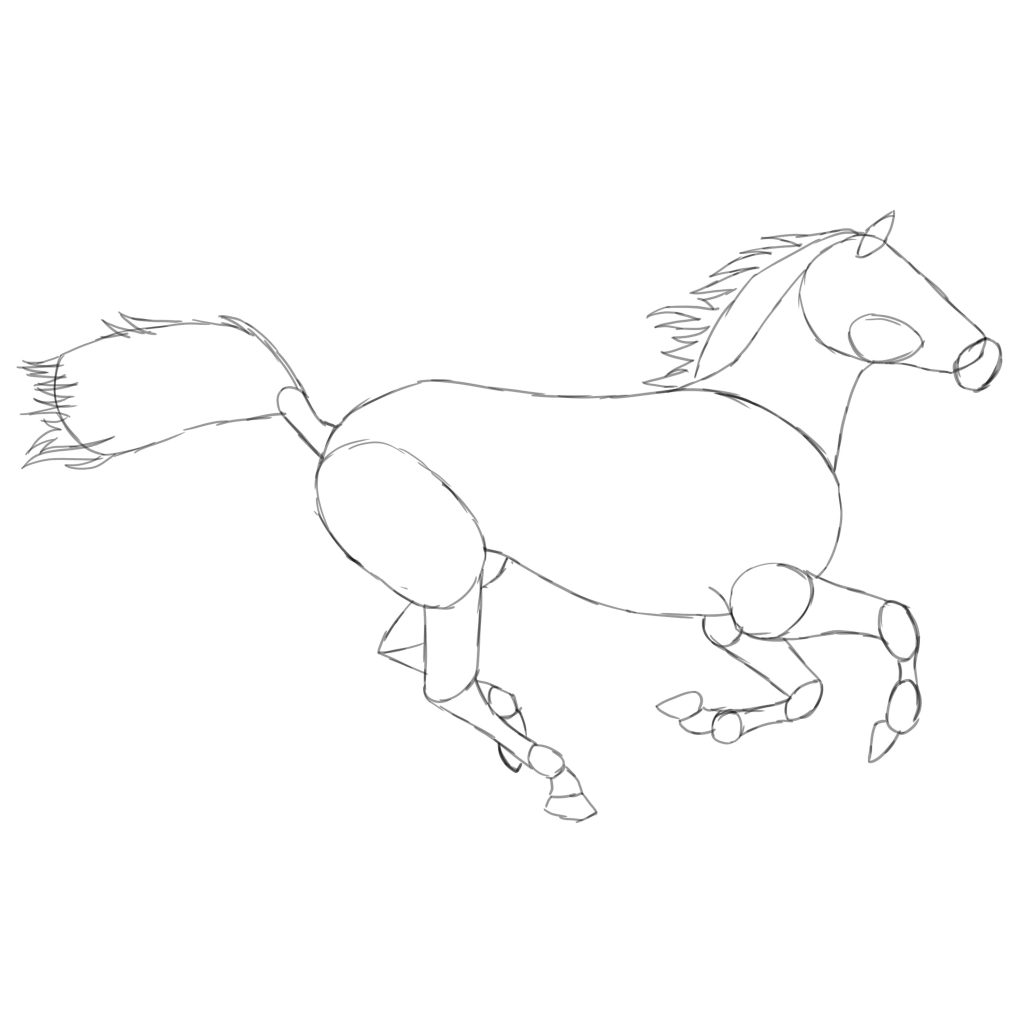 3 ways to draw a horse from beginner to intermediate level