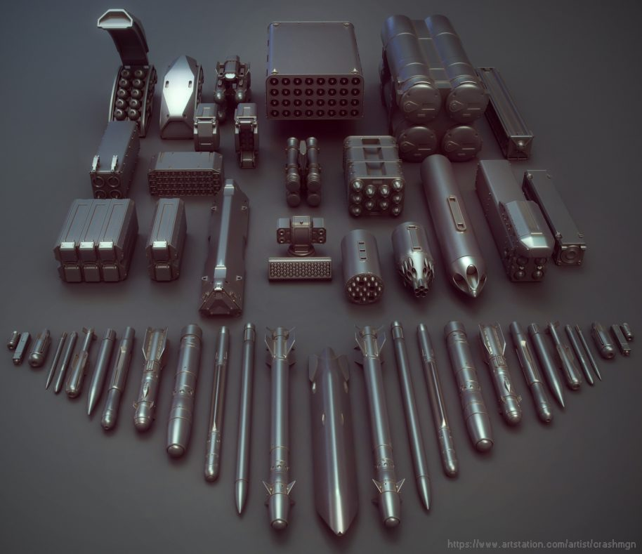 10 KitBash Model parts for 3d Artists ( Free & Premium