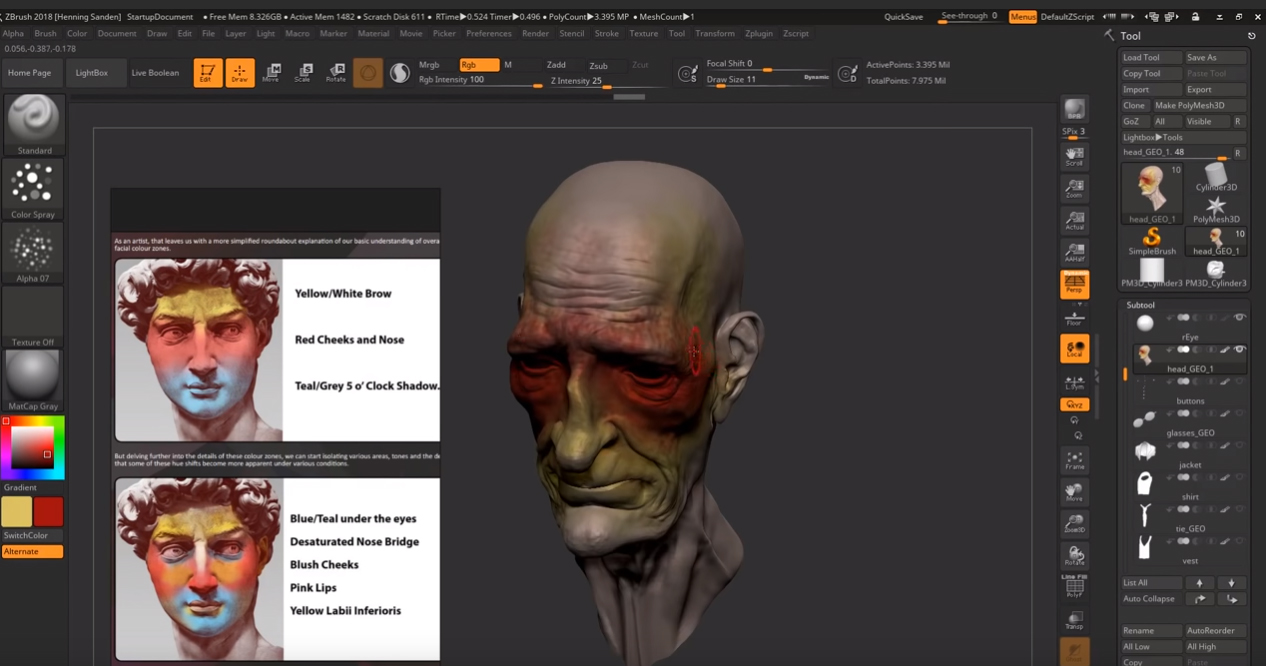 Zbrush tutorial 23 - Improveyourdrawings com