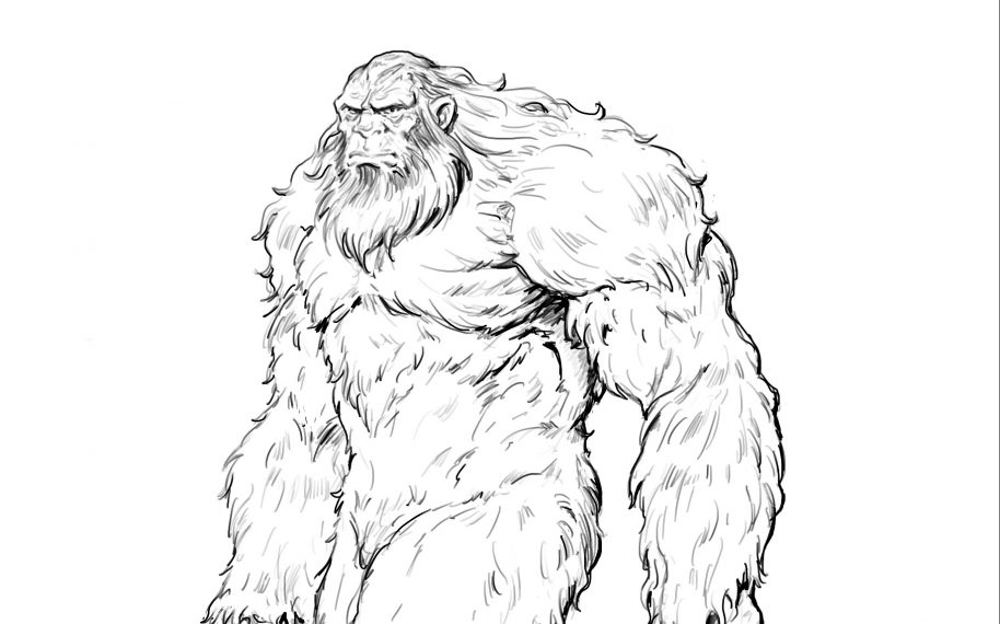 How To Draw Bigfoot | Learn To Draw a Sasquatch in 7 Easy Steps -  Improveyourdrawings.com