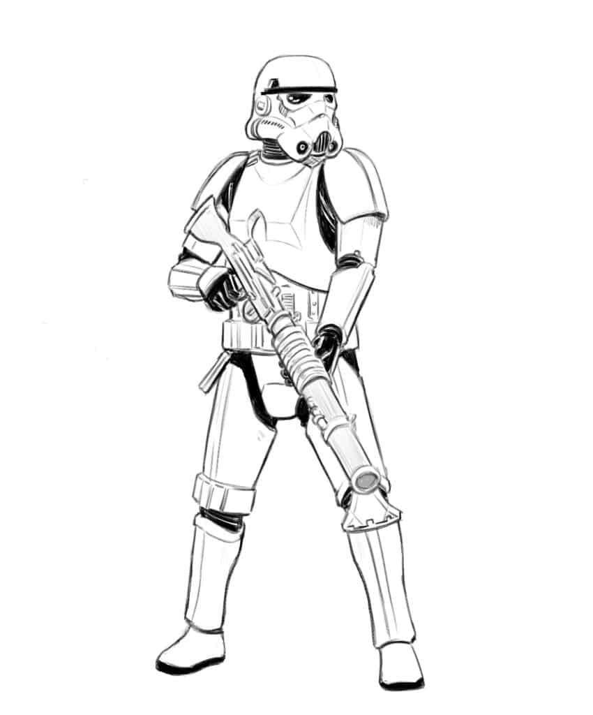 How to Draw a Stormtrooper from Star Wars in 7 easy steps ...
