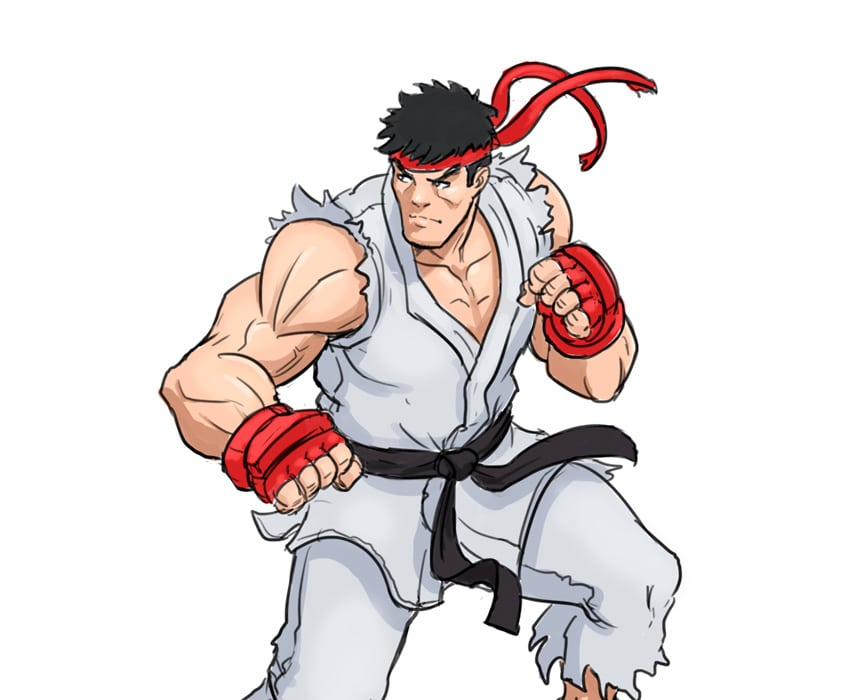 Learn to Draw Ryu from Street Fighter in 9 Easy Steps