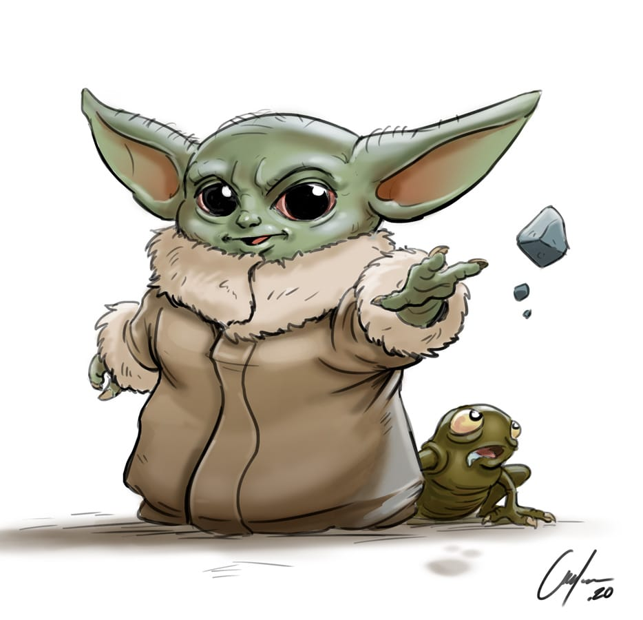 LEARN TO DRAW BABY YODA FROM STAR WARS IN 9 STEPS