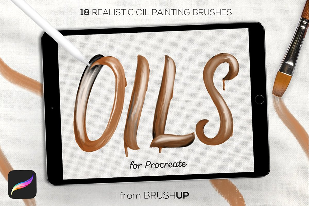 Best 25 Oil Painting Brush Packs for Procreate | Free & Premium