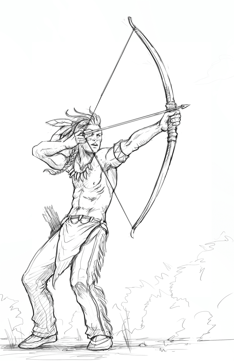 HOW TO DRAW AN ARCHER | LEARN TO DRAW AN ARCHER THE EASY WAY